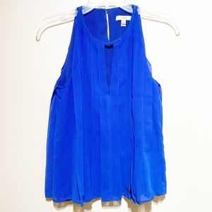 J.Crew Royal Blue Pleated Tank Top